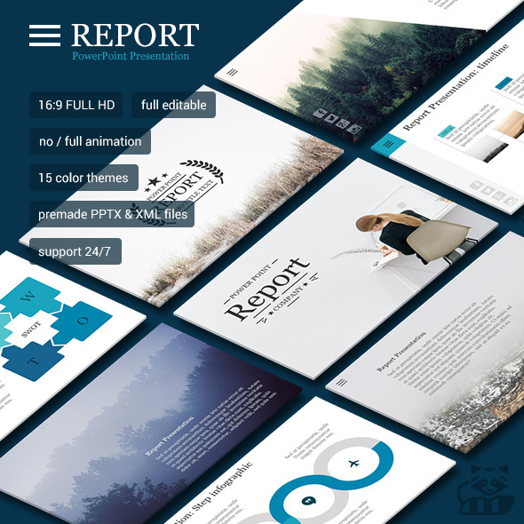 Report PowerPoint - Business PowerPoint Templates