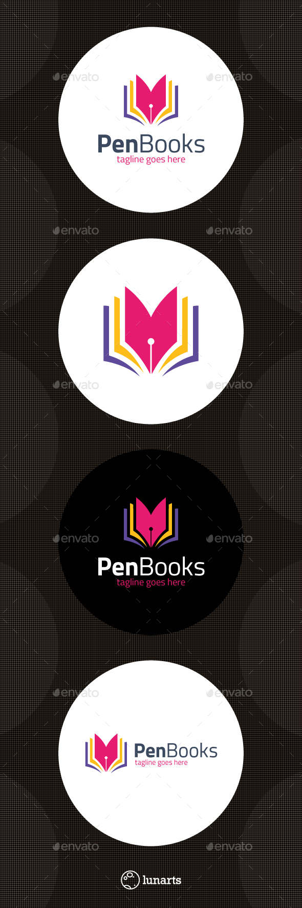 Book Writer Logo - Symbols Logo Templates