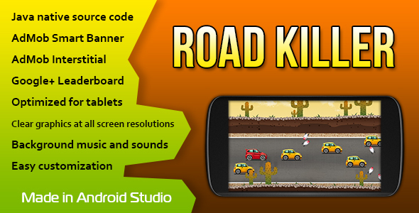 Road Killer with AdMob and Leaderboard - CodeCanyon Item for Sale