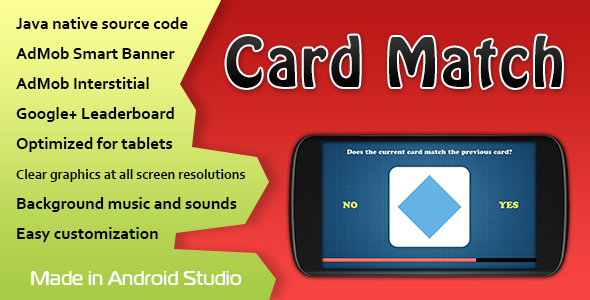 Card Match Game with AdMob and Leaderboard - CodeCanyon Item for Sale