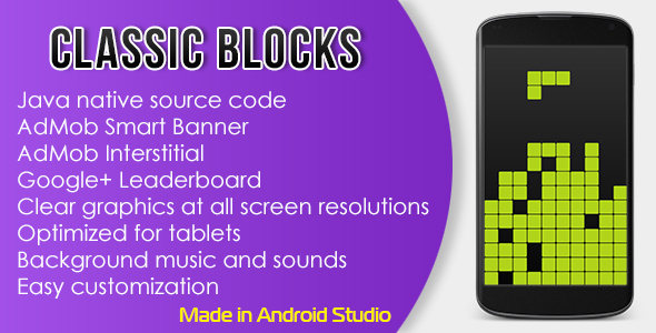 Classic Blocks with AdMob and Leaderboard - CodeCanyon Item for Sale