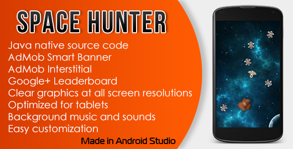 Space Hunter with AdMob and Leaderboard - CodeCanyon Item for Sale