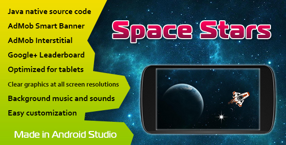 Space Stars with AdMob and Leaderboard - CodeCanyon Item for Sale