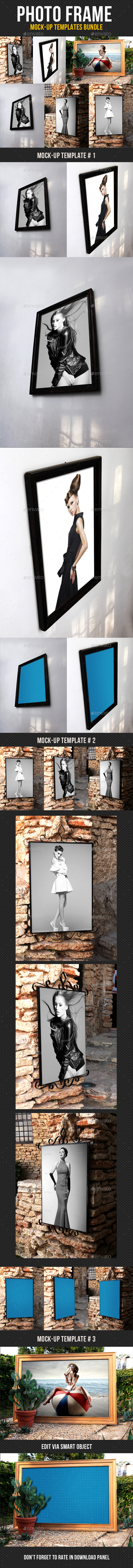 Photo Frame Mock-Up Bundle - Miscellaneous Product Mock-Ups