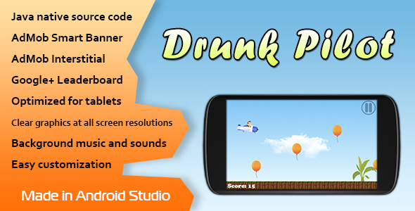 Drunk Pilot with AdMob and Leaderboard - CodeCanyon Item for Sale