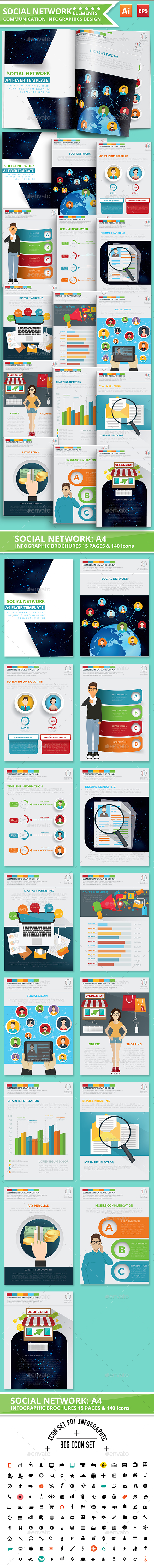 Social Network Infographics Design - Infographics