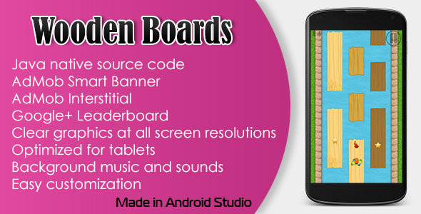 Wooden Boards Game with AdMob and Leaderboard - CodeCanyon Item for Sale