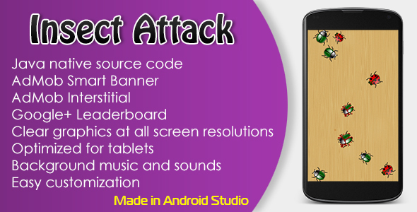 Insect Attack Game with AdMob and Leaderboard - CodeCanyon Item for Sale