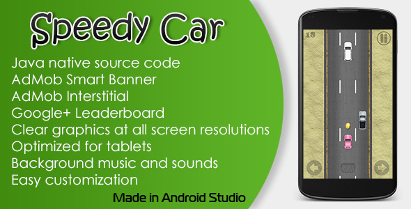 Speedy Car Game with AdMob and Leaderboard - CodeCanyon Item for Sale