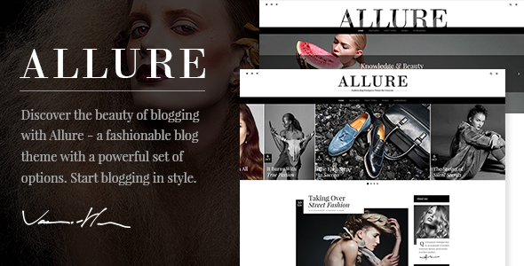 Allure - A Fashionable Blog Theme - Personal Blog / Magazine