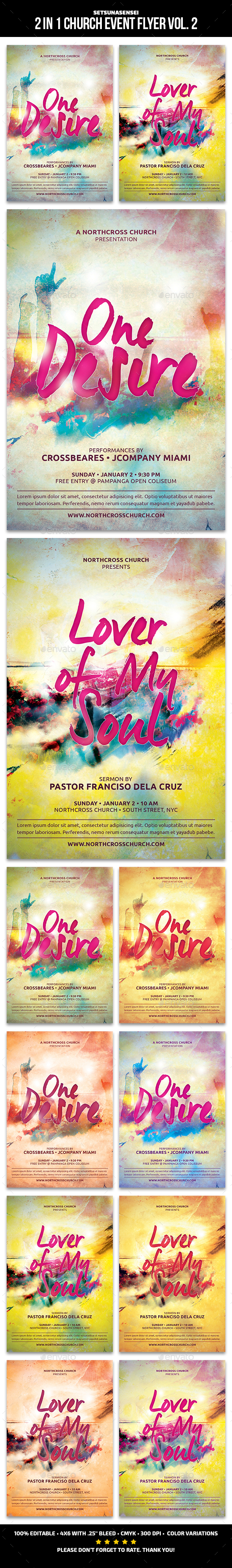 2 in 1 Church Event Flyer Vol. 2 - Church Flyers