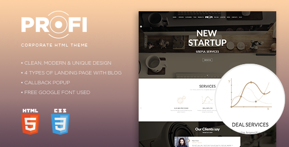 Profi – Multipurpose Corporate HTML Template