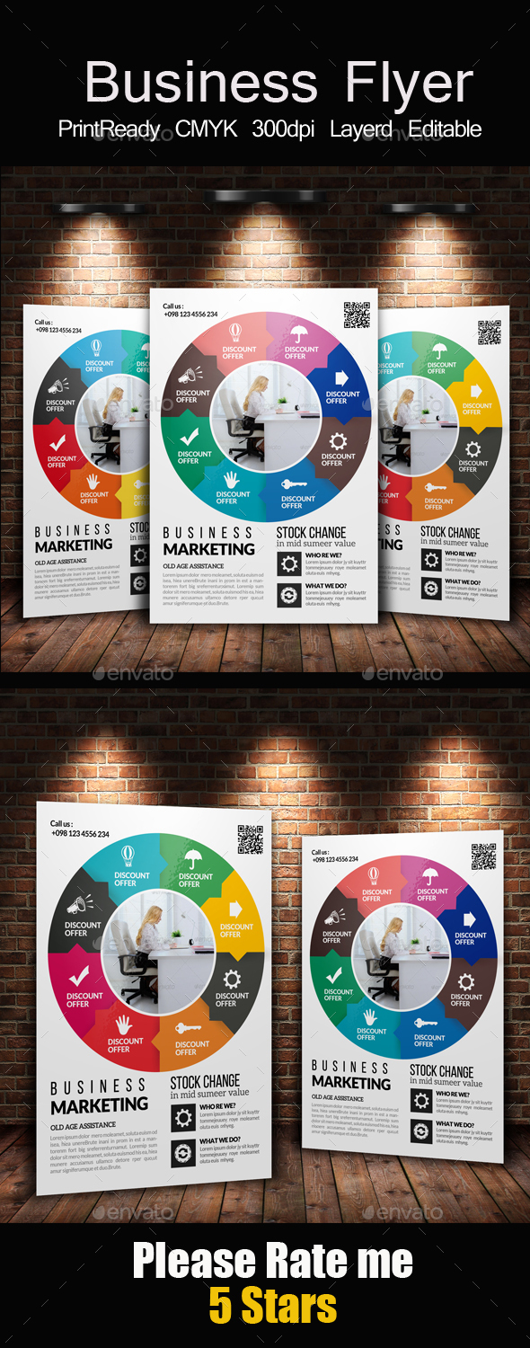 Corporate Strategy Planning Flyer Template - Corporate Flyers