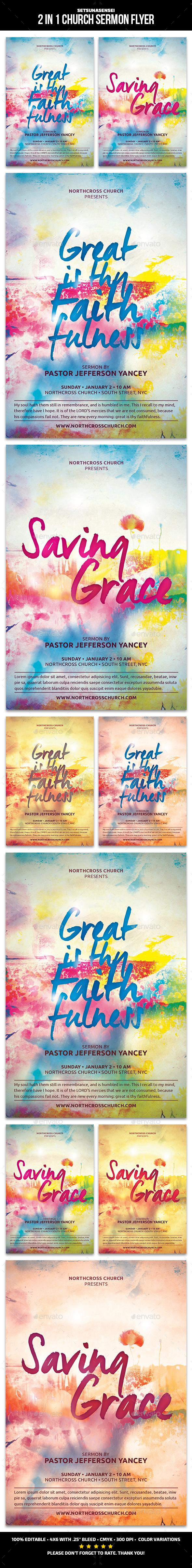 2 in 1 Church Sermon Flyer - Church Flyers