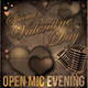 Valentine Day Open Mic Flyer Template  - GraphicRiver Item for Sale