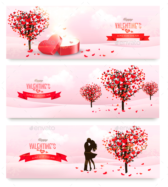 Holiday Valentine Banners. Vector - Valentines Seasons/Holidays