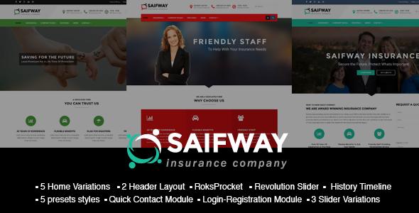 SaifWay – Responsive Insurance Agency Joomla Template