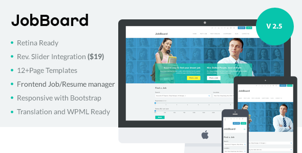 JobBoard - Responsive Recruitment Directory WordPress Theme - Directory & Listings Corporate