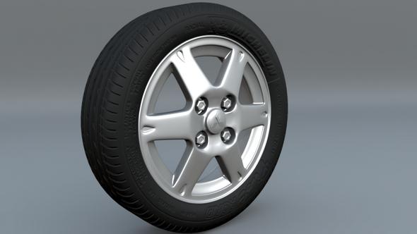 tire rim scene file - 3DOcean Item for Sale