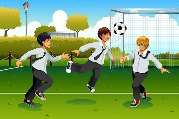 Student Playing Soccer - Sports/Activity Conceptual