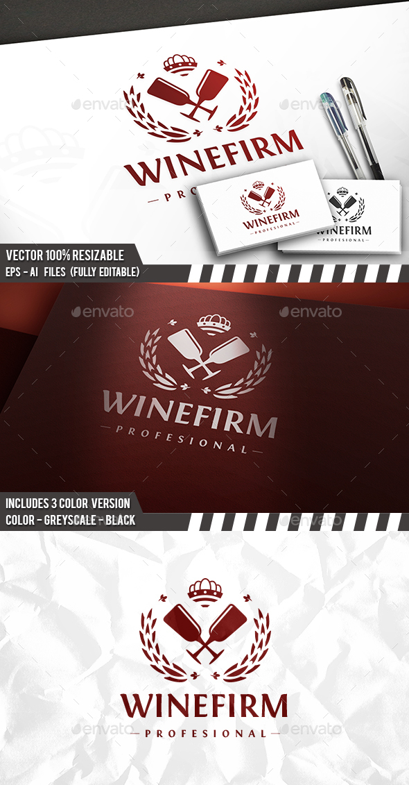 Wine Firm Logo - Crests Logo Templates