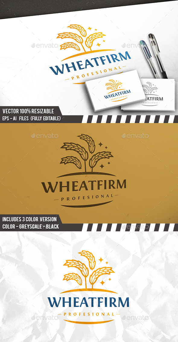 Wheat Firm Logo - Nature Logo Templates