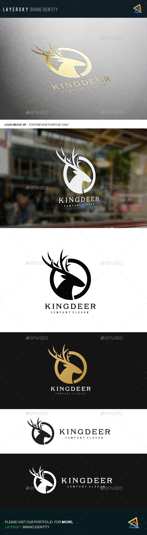 King Deer  - Animals Logo Templates