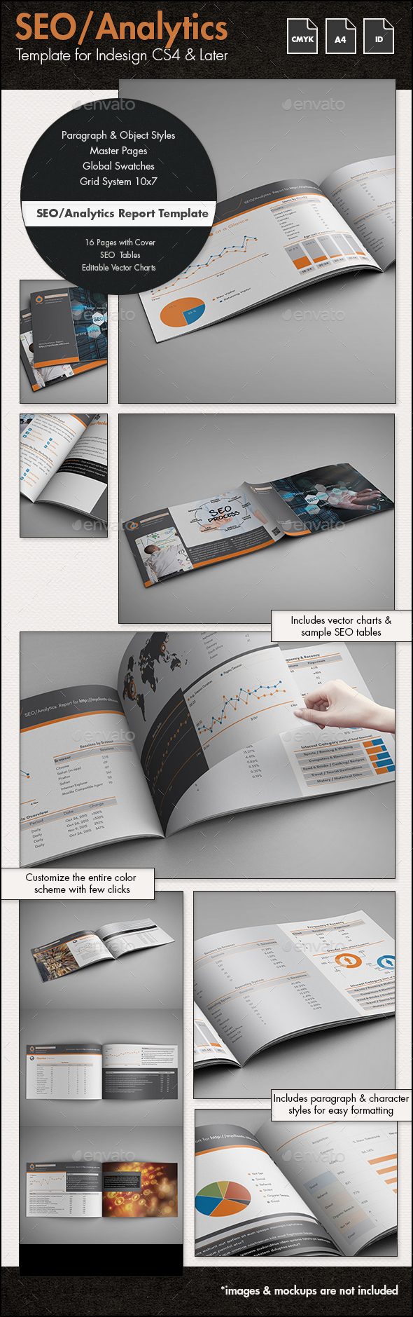 SEO Report / Proposal Template - A4 Landscape by sthalassinos ...