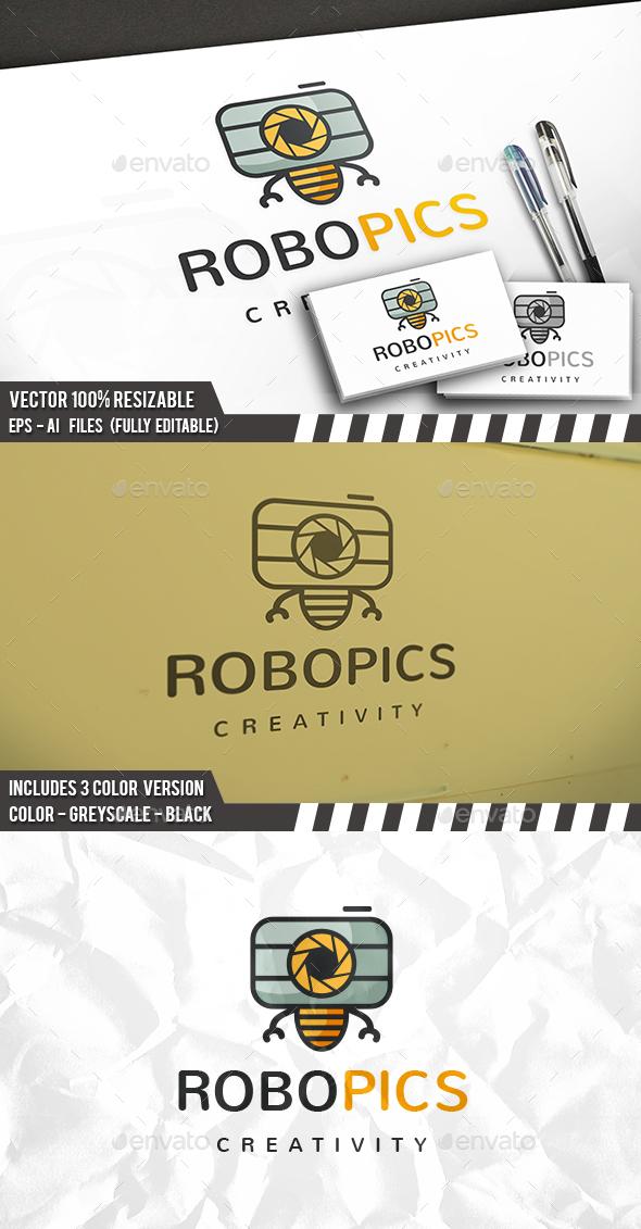 Photo Robot Logo - Objects Logo Templates