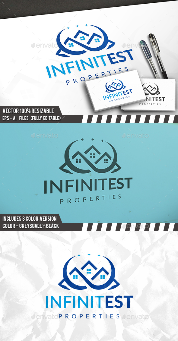 Real Estate Infinite Logo - Buildings Logo Templates