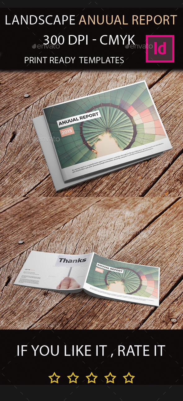 Landscape Annual Report 2015 I Indesign Template - Corporate Brochures