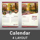 Classic Calendar Template 2016 - GraphicRiver Item for Sale