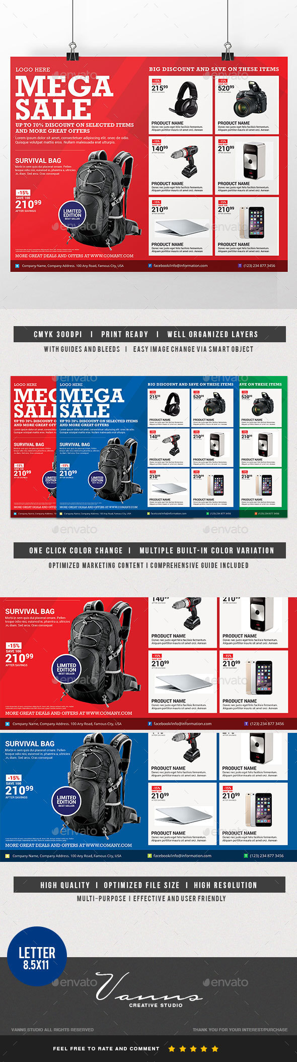 Mega Sale Flyer - Commerce Flyers