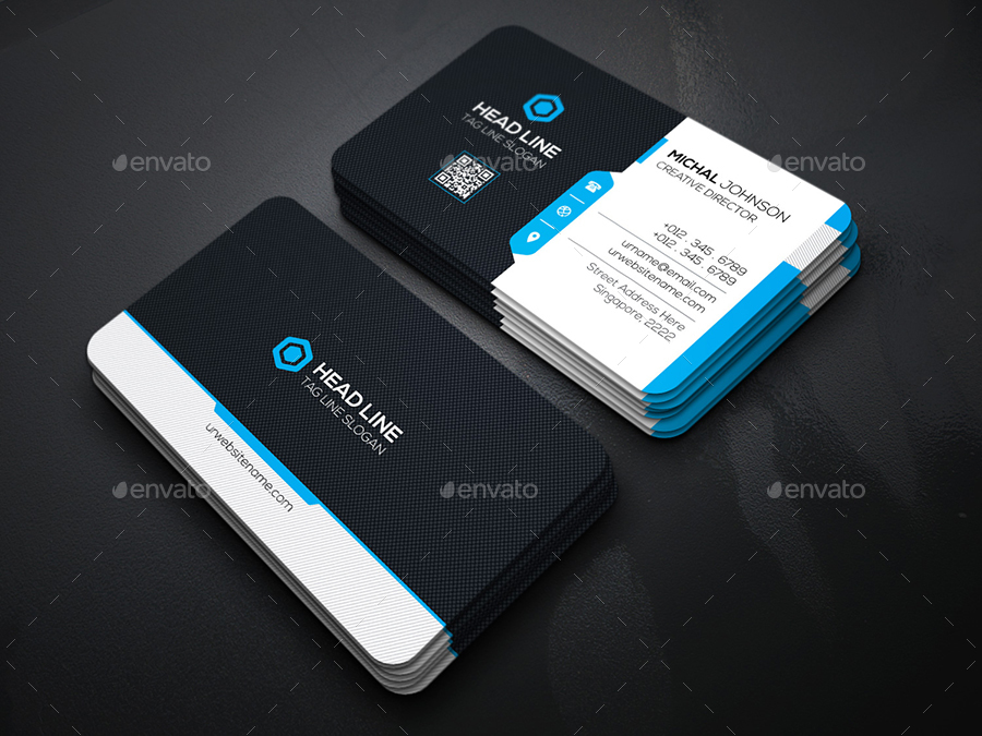 Head Line Business Cards by generousart | GraphicRiver