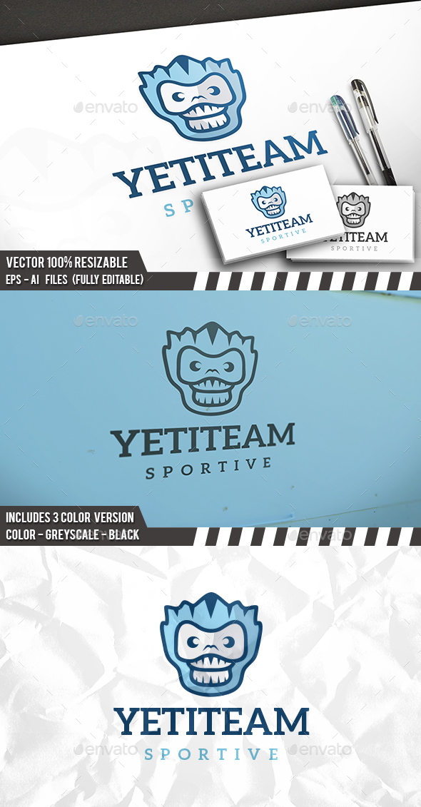 Yeti Logo - Animals Logo Templates