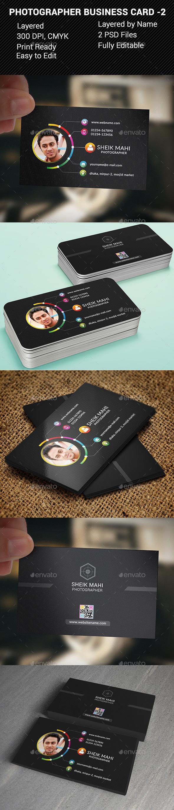 Photographer Business Card -2 - Business Cards Print Templates