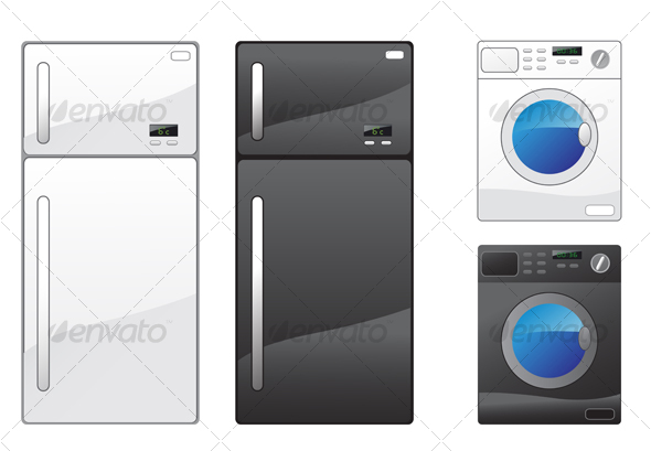 Refrigerator and washing machine - Technology Conceptual