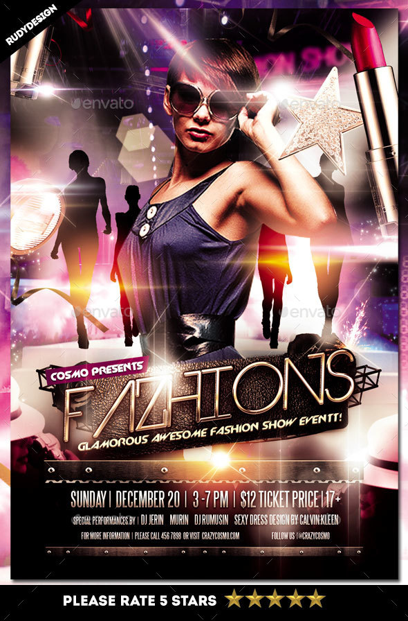 Fashion show flyer by rudydesign graphicriver for Fashion flyers templates for free