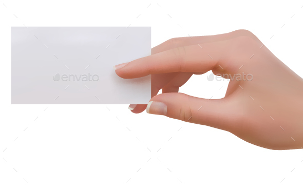 Hand Holding Business Card - Business Conceptual