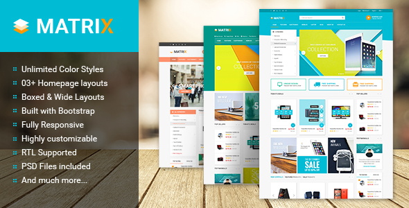 Matrix – Multipurpose Responsive Prestashop Theme