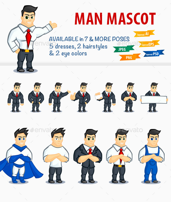 Handsome Man Mascot - People Characters