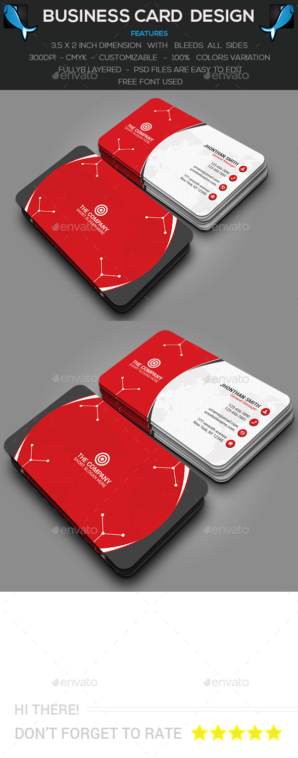 Circle Corporate Business Card - Creative Business Cards