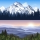 Landscape Of Mountains Banners - GraphicRiver Item for Sale