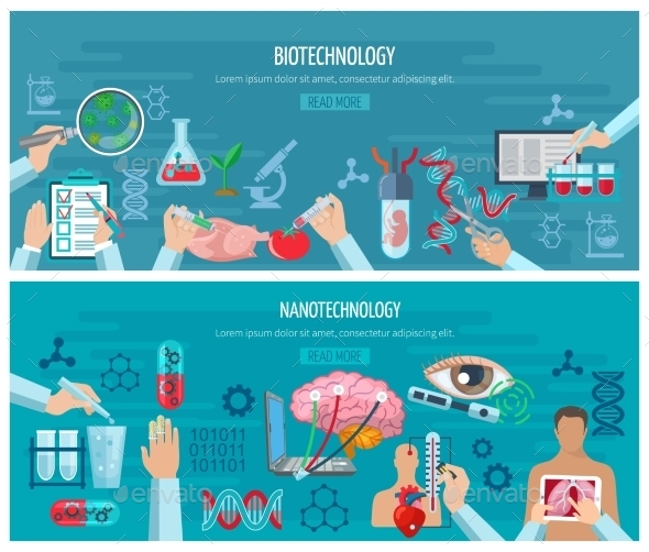 Horizontal  Biotechnology And Nanotechnology - Technology Conceptual