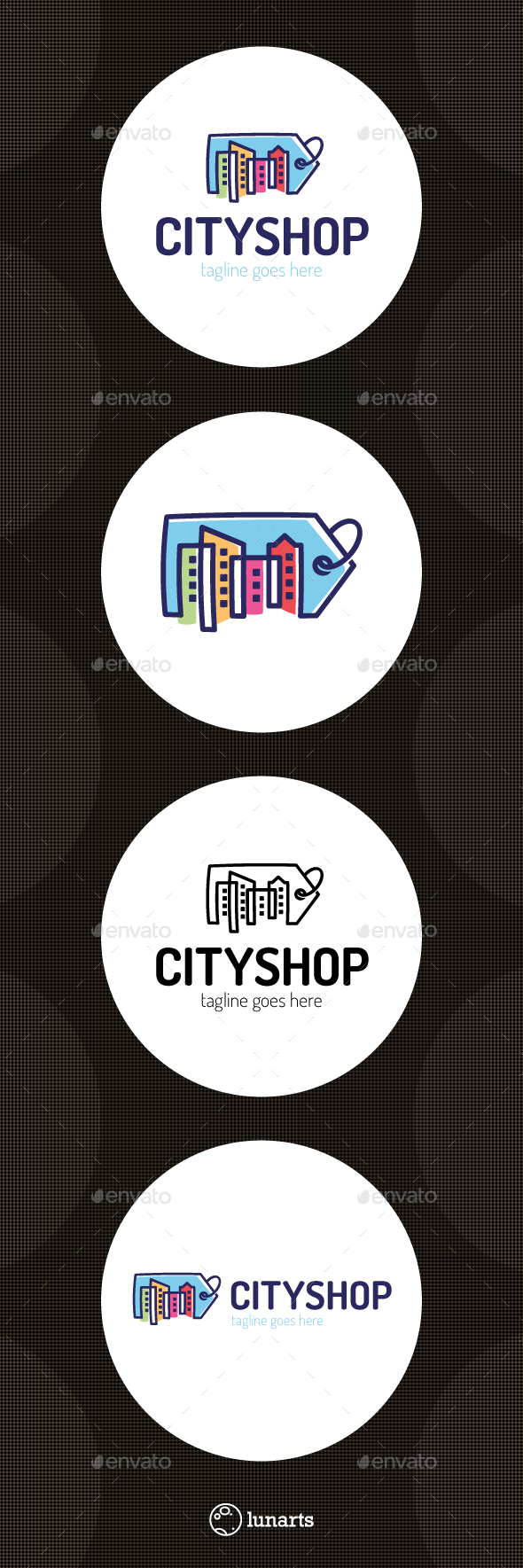 City Shop Logo - Symbols Logo Templates