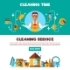 Clening Service 2 Flat Banners Set - GraphicRiver Item for Sale