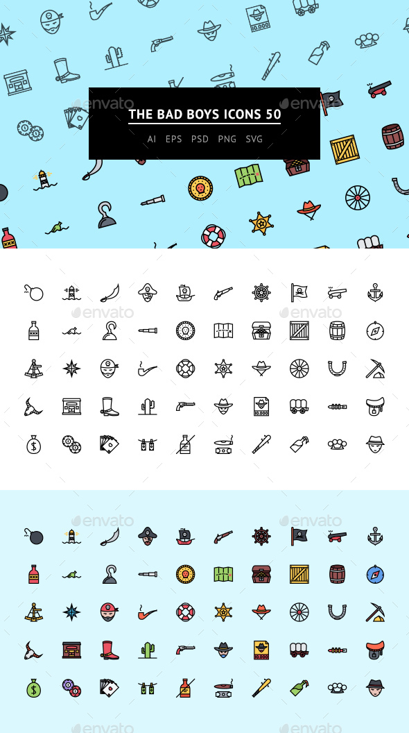 The Bad Boys Icons 50 - Web Icons