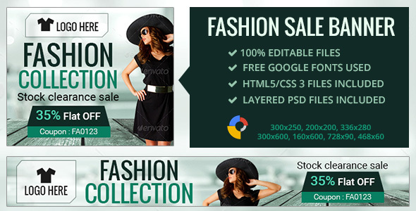 GWD | Fashion Sale Banners - 7 Sizes - CodeCanyon Item for Sale