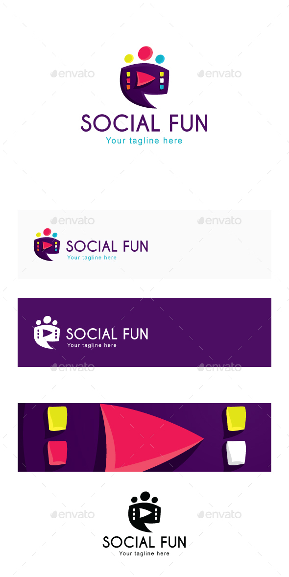 Social Fun Logo Template - Abstract Logo Templates