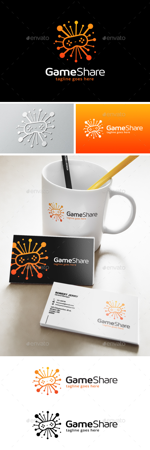 Game Share Logo - Objects Logo Templates